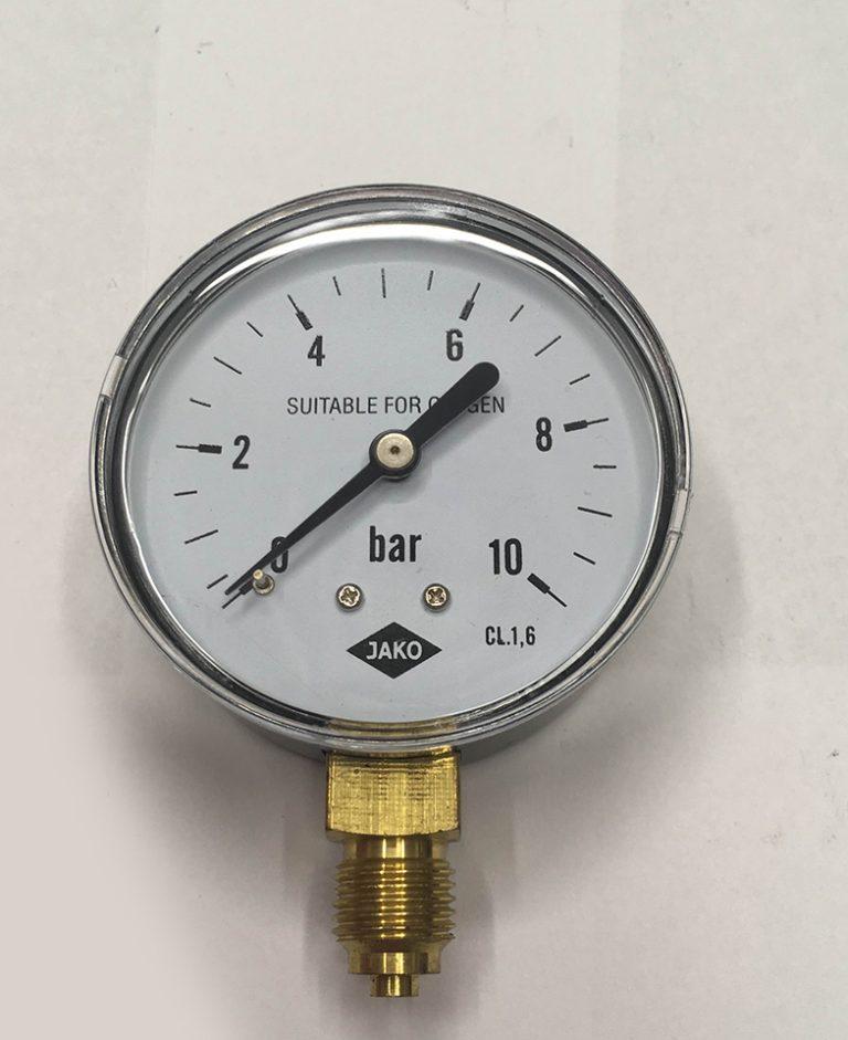 Jako Fig 1 Oxigén Fémház réz mérőműves nyomásmérő